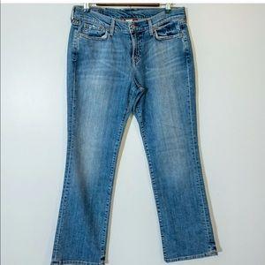 Lucky Classic Rider Jeans 8 SHORT Bootcut Distress